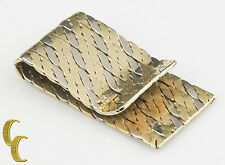 Tiffany & Co. Vintage 14k Yellow and White Gold Rope Design Money Clip Italy