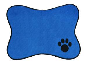 "Blue Dog Feeding Mat Puppy Pet Bowl Placemat 15""x11"" NON-SLIP FREE SHIPPING"