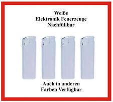 250 Stück TOM nachfüllbare weiße Elektronik Feuerzeuge mit Ihrer Werbung