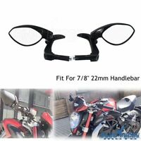Pair CNC Motorcycle Handle Bar End Rear View Mirrors 7/8 in Universal for Yamaha