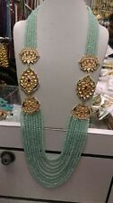 Bollywood Kundan Traditional Gold Tone Pearl Ethnic Long Women Necklace V918