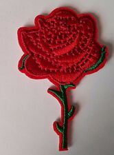 Rose flower single Rose Iron on Patch Brand New Sew on Patch