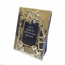 "Silver Plated Musical Anniversary Photoframe 4""x 3"" - Xaniframe"