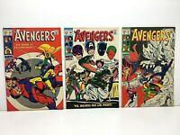 Avengers #59, 60 & 61 *Lot of 3* Silver Age Comic Books! Marvel Higher Grade