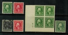 United States #405-410 1912 Mnh/Mh(410)/Used(407)