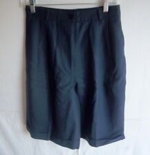 TALBOTS - Women's Navy Blue 100% Wool Bermuda Walking Shorts - SIZE 10