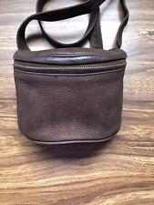 VTG COACH F5B-4937 Brown Pebble Leather CrossBody Fishing Creel Belt Fanny Bag