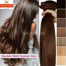 Double Weft Thick Clip In Real Remy Human Hair Extensions Full Head UK Best M196
