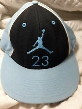 Vintage Air Jordan Hat Air Logo # 23 North Carolina Colors Fitted Wool Sz 7 3/8