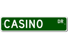 CASINO Street Sign - Personalized Last Name Signs