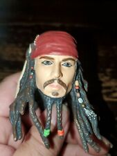 """Pirates of the Caribbean CAPT Jack Sparrow Head for 12"""" Action Figure 1:6"""