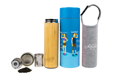 Tumbler with Tea Infuser & Strainer, 100% Organic Bamboo, 17oz, By Kozy Kitchen
