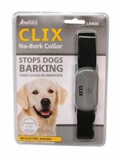 Clix No Bark Anti Bark Dog Collar Sound Or Vibration Obedience Training - Large