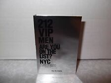 CH Men's 212 VIP,Are you on the List? EDT samples 1 x 1.5ml New Design on Cards