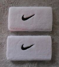 NIKE Tennis Dri-Fit DW Swoosh Wristbands Color White/Black 1 Pair New
