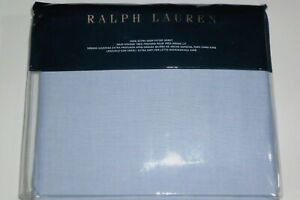 NIP RALPH LAUREN BLUE OXFORD SOLID EXTRA DEEP KING SIZE FITTED SHEET