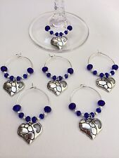 20 Hearts With Royal Blue Crystals,Wedding,Favours,HenNight,Party