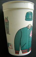 "Vintage ICEE Plastic Baseball Cup Boston Red Sox Blue Jacket 5 1/4"" Tall"