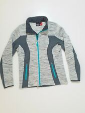 Crane Snow Extreme Grey Full Zip Pockets Fitted Jacket Jumper Size M Sport