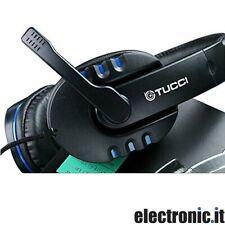 Cuffie gaming con microfono Tucci X6 - Colore blu