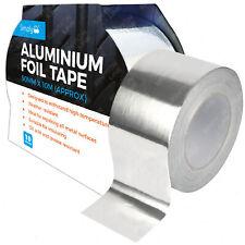 ALUMINIUM FOIL TAPE Adhesive Silver Repair All Metal Surfaces 50MM X 10M Duct