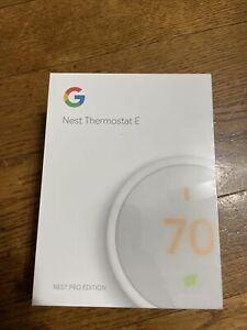 Google Nest Thermostat E White Pro Edition - NEW SEALED