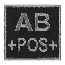 ÉCUSSON PATCH GROUPE SANGUIN AB+ / AB POS / AB POSITIF avec DOS AUTO-AGRIPPANT