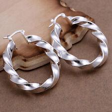 Free shipping wholesale sterling solid silver hollow hoop Earrings XLSE154