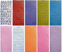 BRIGHT LETTERS Peel off Stickers 18mm  Alphabet Card Making Pink Purple