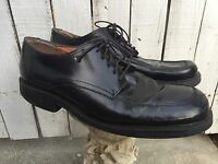 ALFANI 'Empire' Mens Black Leather Dress Shoes Oxfords Sz 12 M Made in Italy