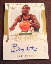 2014-15 NATIONAL TREASURES GARY PAYTON AUTOGRAPH #'d 7/25 GOLD PROOF SCRIPTS