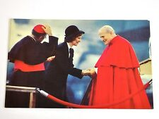 Hermosa tarjeta postal EE.UU. 1979 Papa Juan Pablo II Carter