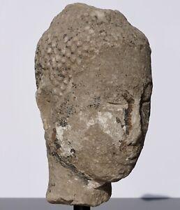 Large 15th-16th Century Sandstone Thai Buddha Head