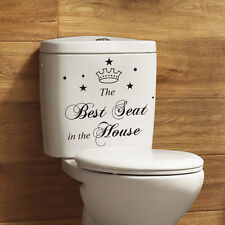 Best Seat in the House Toilet Bathroom Wall Sticker
