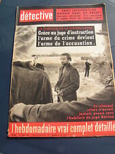 Détective 1962 844 BOUSSOIS RECQUIGNIES SCHIRRHEIN AJACCIO NEUVILLE EN CONDROZ