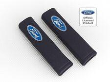 Richbrook 'Licensed' Ford Logo Seat Belt Shoulder Pads / BLACK Padded Harness