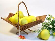 Centerpice Wood Fruit or Vegetable Basket / Handmade Foldable Display Stand