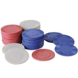 Interlocking Poker Chips 50 Gray 25 Blue 25 Red Pack Casino Vegas Gambling Party