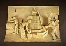 Vintage plaque bas-relief signée CA.MORAND oenologie, pressage, viticulture