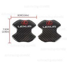 2PCS LEXUS Carbon Fiber Anti Scratch Badge For Door Handle Bowl Cover Trim