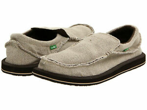 Men Sanuk Chiba Slip On Textile Shoes SMF1047 Tan 100% Original Brand New