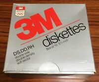 3M DS HD 5 1/4 Inch Floppy Disk Diskettes 5 Disks Double Sided High Density P/O