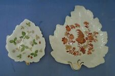 Two Assorted Wedgwood Bone China Leaf Shaped Dishes