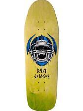 BLIND RUDY JOHNSON JOCK SKULL LIME GREEN RE-ISSUE SKATEBOARD DECK 9.875 NEW