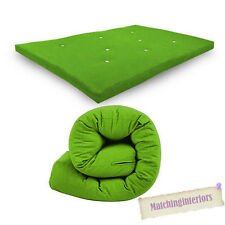 Lime Budget Double Futon Sofabed Replacement Roll Up Folding Sleeping Mattress