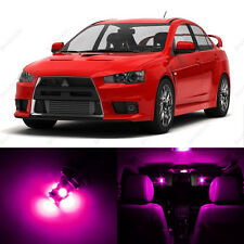 6 x Pink/Purple LED Interior Lights Package For 2008 - 2013 Lancer Evo X 10