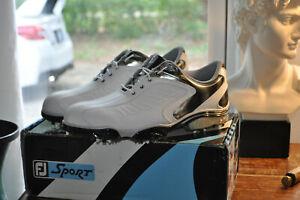New In Box FootJoy Sport Golf Shoes 53203 Waterproof White Leather Men 10.5 M