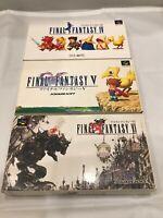 Lot Final Fantasy 4 5 6 SFC Super Famicom SNES NTSC-J CIB JAPAN Import Test