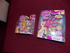 My Little Pony Applejack + Glimmer Wings Fluttershy NIP Pony Wedding