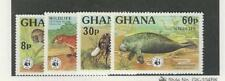 Ghana, Postage Stamp, #621-624 Mint NH, 1977 World Wildlife WWF Animals